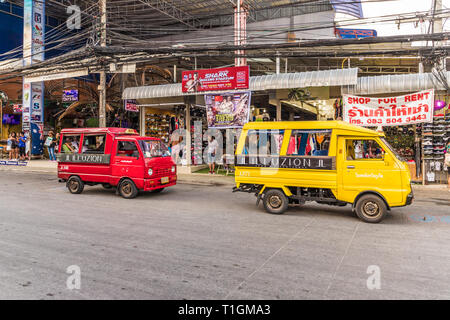 February 2019. Patong Thailand. Local transportation in Patong Thailand - Stock Photo