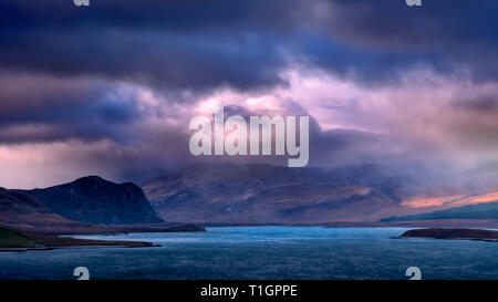 Dramatic Cloudscape over Loch Eriboll , Sutherland, Scottish Highlands, Scotland, UK - Stock Photo