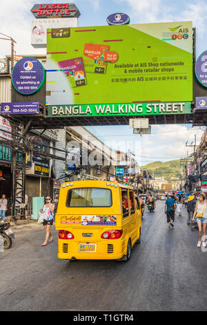 A typical scene in Patong Thailand - Stock Photo