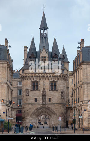Bordeaux is a port city in southwestern France, capital of the region of New Aquitaine and the prefecture of the Gironde department. - Stock Photo