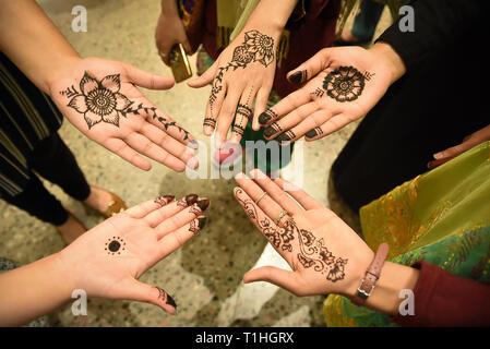 Traditional Pakistani Mehndi - Stock Photo