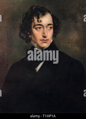 Benjamin Disraeli, First Earl of Beaconsfield (1804-1881), 1852. By Sir Francis Grant (1803-1878). This portrait was painted free of charge by Grant in 1852, when Disraeli became Chancellor of the Exchequer. He served in government spanning four decades, twice as Prime Minister of Great Britain. - Stock Photo