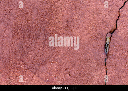 Grungy wall with large crack cement wall texture,cement large crack for background - Stock Photo