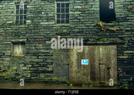 Exterior shots of the old brick work buildings in and around the royal burgh of Wick harbour caithness scotland - Stock Photo