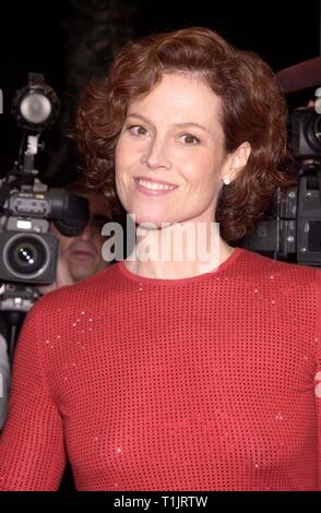 LOS ANGELES, CA. November 30, 1999:   Actress Sigourney Weaver at the Los Angeles premiere of her new movie 'A Map of the World' in which she stars with Julianne Moore. © Paul Smith / Featureflash - Stock Photo