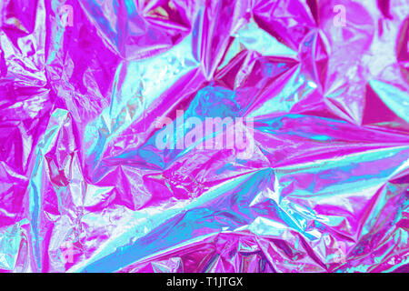 Abstract Modern bright colored holographic background in 80s style. Synthwave. Vaporwave style. Retrowave, retro futurism, webpunk - Stock Photo