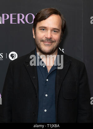 New York, United States. 25th Mar, 2019. NEW YORK, NY - MARCH 25: Marcelo Zarvos attends 'The Chaperone' New York Premiere at Museum of Modern Art on March 25, 2019 in New York City. Credit: Ron Adar/Alamy Live News - Stock Photo