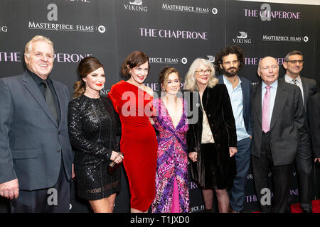 New York, United States. 25th Mar, 2019. NEW YORK, NY - MARCH 25: Crew and cast attend 'The Chaperone' New York Premiere at Museum of Modern Art on March 25, 2019 in New York City. Credit: Ron Adar/Alamy Live News - Stock Photo