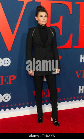 New York, United States. 26th Mar, 2019. NEW YORK, NY - MARCH 26: Clea DuVall attends the premiere of 'Veep' final season at Alice Tully Hall on March 26, 2019 in New York City. Credit: Ron Adar/Alamy Live News - Stock Photo