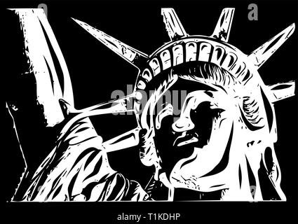 the american Liberty Statue Icon vector Illustration - Stock Photo