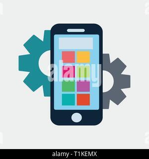smartphone repair vector symbol - Stock Photo