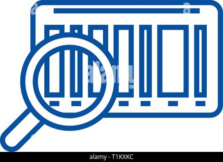 Tracking code line icon concept. Tracking code flat  vector symbol, sign, outline illustration. - Stock Photo