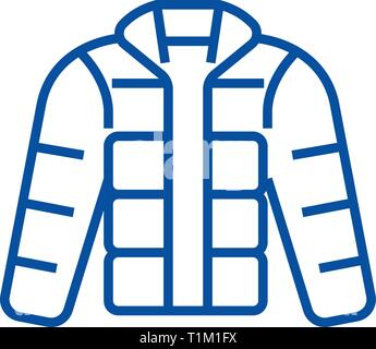 c881f7b4673 ... Winter jacket,downjacket,outdoor clothes line icon concept. Winter  jacket,downjacket,
