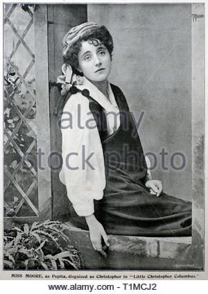 Eva Moore portrait, 1868 – 1955, was an English actress, photograph from 1890s - Stock Photo