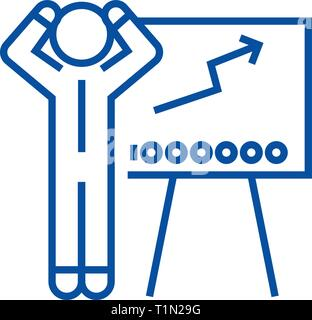 Forex trading line icon concept. Forex trading flat  vector symbol, sign, outline illustration. - Stock Photo