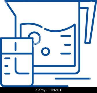 Fresh juice line icon concept. Fresh juice flat  vector symbol, sign, outline illustration. - Stock Photo