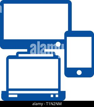 Gadgets,notebook, smartphone line icon concept. Gadgets,notebook, smartphone flat  vector symbol, sign, outline illustration. - Stock Photo