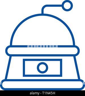 Grinder line icon concept. Grinder flat  vector symbol, sign, outline illustration. - Stock Photo
