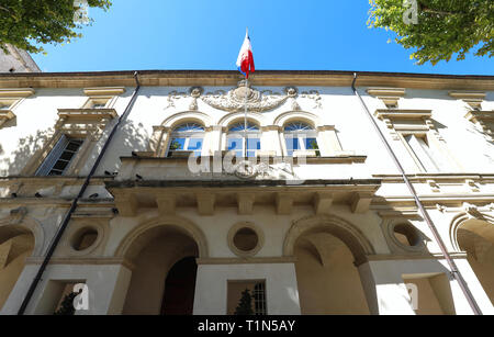 St Remy de Provence, town hall . Buches du Rhone, Provence, France. - Stock Photo