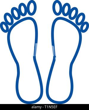 Heels,pedicure line icon concept. Heels,pedicure flat  vector symbol, sign, outline illustration. - Stock Photo