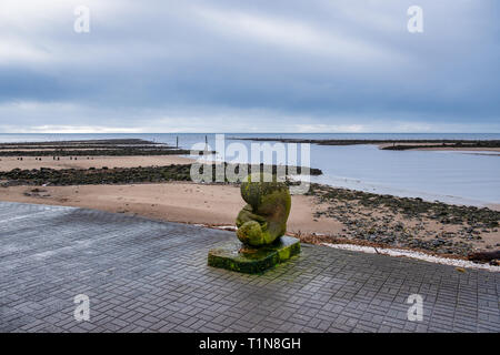 Irvine Harbour North Ayrshire Scotland on a bright but cold March Day - Stock Photo