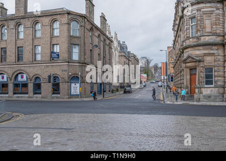 Dundee, Scotland, UK - March 22, 2019:  Ward Road leading up to the university in Dundees city Centre. - Stock Photo