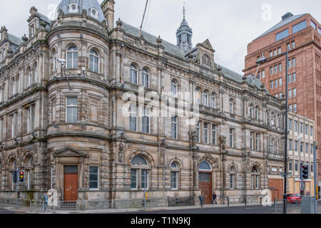 Dundee, Scotland, UK - March 22, 2019: The Old Post Office Buildings at Meadowside in Dundee Scotland. - Stock Photo