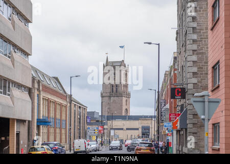 Dundee, Scotland, UK - March 22, 2019: Dundee City Centre Looking Down to Overgate Shopping Centre Dundee In Scotland. - Stock Photo