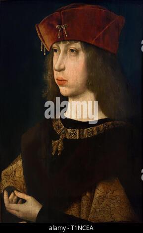 Philippe the Handsome 1478-1506 Archduke of Austria, the future king of Castile. after JAN VAN EYCK 1390 - 1441 Belgian, Belgium, Flemish,( Philip I of Castile ) - Stock Photo