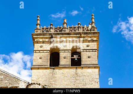 Monastery of Santa Maria del Parral in Segovia in a bright Summer day. Castilla y Leon, Spain - Stock Photo
