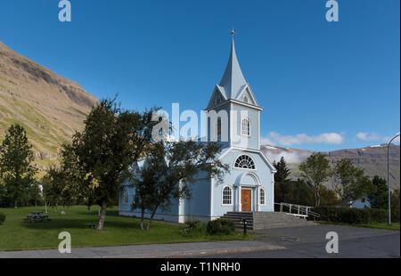 Seydisfjordur cityscape in East Iceland - Stock Photo