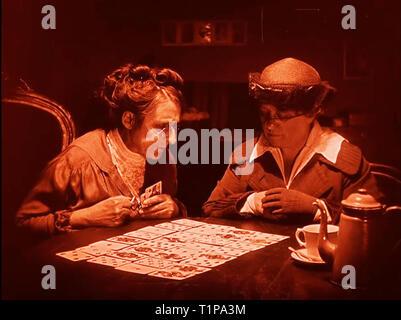 Tarot cards and teller - Stock Photo