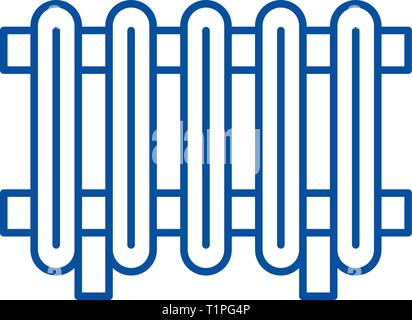 Radiator line icon concept. Radiator flat  vector symbol, sign, outline illustration. - Stock Photo
