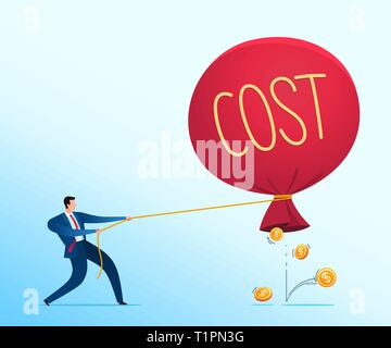 Businessman's strategy to prevent business loss. Business concept vector illustration. - Stock Photo