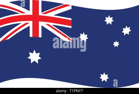 isolated Australia Flag - Stock Photo