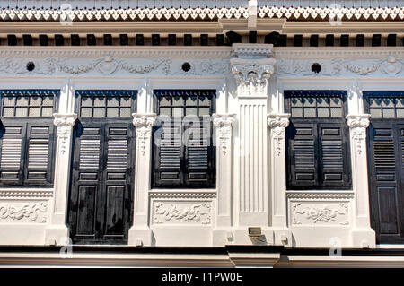 Historical Peranakan houses in Joo Chiat, Singapore - Stock Photo
