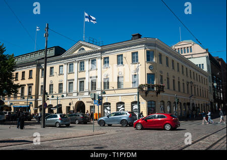 23.06.2018, Helsinki, Finland, Europe - A street scene in the city centre of the Finnish capital. - Stock Photo