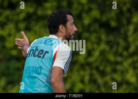 SP - Sao Paulo - 03/28/2019 - Training of Sao Paulo - Nene during training of Sao Paulo at CT Barra Funda. Photo: Marcello Zambrana / AGIF - Stock Photo
