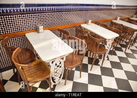 Typical Spanish cafe in Valencia - Stock Photo