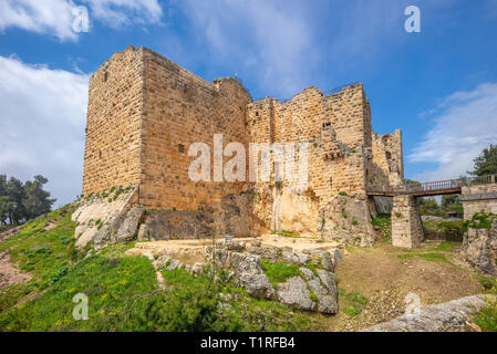 Ajloun Castle (Qa'lat ar-Rabad) in northern jordan - Stock Photo