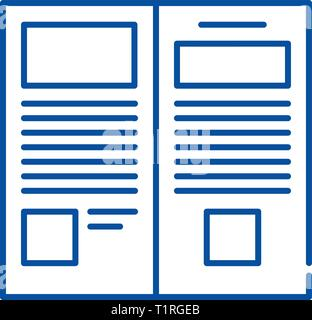 Press release line icon concept. Press release flat  vector symbol, sign, outline illustration. - Stock Photo