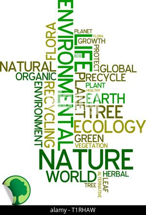 Ecology - environmental poster made from words - Stock Photo