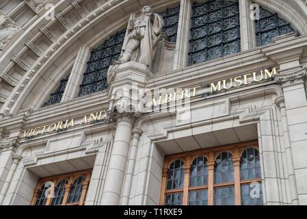 Victoria Albert Museum, London, UK - Stock Photo
