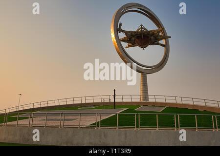 DOHA, QATAR – AUGUST 20, 2013: Aspire Fire Tower in Aspire Zone Doha Qatar - Stock Photo
