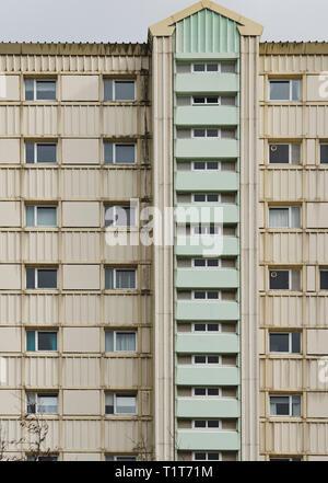 Detail of high rise council block of flats  in Wester Hailes, Edinburgh, Scotland, UK - Stock Photo