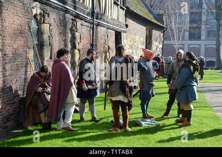 Jorvik Viking Festival, Merchant Adventurers' Hall, York, North Yorkshire, England, February 2019 - Stock Photo