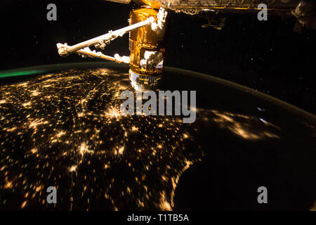 September 17, 2015 - ISS, Low Earth Orbit - NASA astronaut Scott Joseph Kelly captured images from the International Space Station during an early mor - Stock Photo