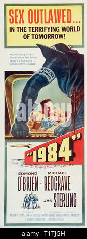 1984 NINETEEN EIGHTY FOUR 1956 de Michael Anderson affiche insert americaine Edmond O'Brien Michael Redgrave Jan Sterling. science-fiction; sci-fi; an - Stock Photo