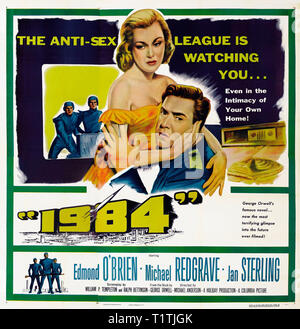 1984 NINETEEN EIGHTY FOUR 1956 de Michael Anderson affiche six sheet americaine Edmond O'Brien Michael Redgrave Jan Sterling. science-fiction; sci-fi; - Stock Photo