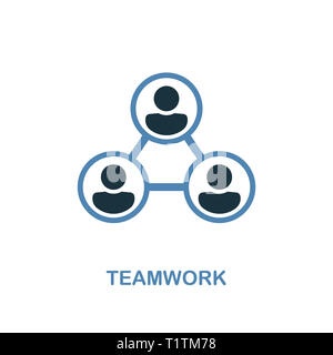Teamwork creative icon. Simple illustration. Teamwork icon from human resources collection. Two colors element for web, apps, software, print. - Stock Photo